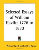 William Hazlitt by Gabriela Mistral