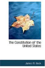 The Constitution of the United States by James M. Beck