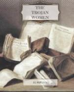 The Trojan women of Euripides by Euripides
