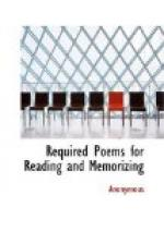 Required Poems for Reading and Memorizing by