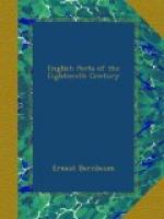 English Poets of the Eighteenth Century by