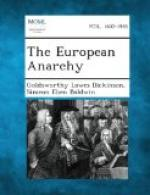The European Anarchy by Goldsworthy Lowes Dickinson