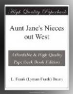 Aunt Jane's Nieces out West by L. Frank Baum