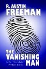The Vanishing Man by R Austin Freeman