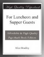 For Luncheon and Supper Guests by