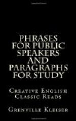 Phrases for Public Speakers and Paragraphs for Study by