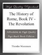 The History of Rome, Book IV by Theodor Mommsen
