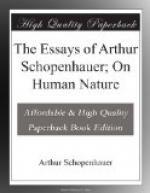 The Essays of Arthur Schopenhauer; On Human Nature by Arthur Schopenhauer