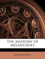The Anatomy of Melancholy by Robert Burton (scholar)