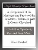 A Compilation of the Messages and Papers of the Presidents by Grover Cleveland