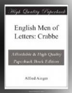 English Men of Letters: Crabbe by Alfred Ainger