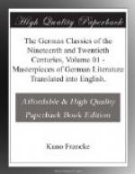 The German Classics of the Nineteenth and Twentieth Centuries, Volume 01 by
