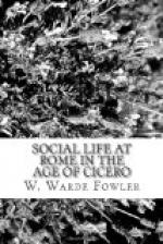 Social life at Rome in the Age of Cicero by