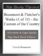 Beaumont & Fletcher's Works (1 of 10) - the Custom of the Country by Francis Beaumont