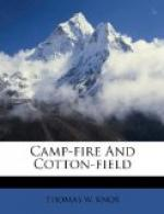 Camp-Fire and Cotton-Field by Thomas W. Knox
