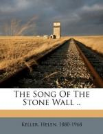 The Song of the Stone Wall by Helen Keller