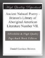 Ancient Nahuatl Poetry by Daniel Garrison Brinton