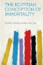 The Egyptian Conception of Immortality by George Reisner