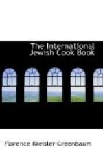 The International Jewish Cook Book by