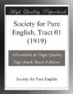 Society for Pure English, Tract 01 (1919) by