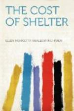 The Cost of Shelter by Ellen Swallow Richards