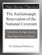 The Auchensaugh Renovation of the National Covenant and by