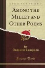 Among the Millet and Other Poems by Archibald Lampman