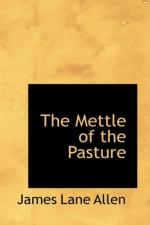 The Mettle of the Pasture by James Lane Allen