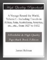 A Voyage Round the World, Volume I by James Holman