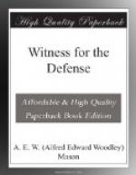 Witness for the Defense by A. E. W. Mason