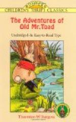 The Adventures of Old Mr. Toad by Thornton Burgess