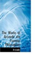 The Works of Aristotle the Famous Philosopher by Aristotle