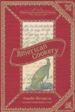 American Cookery by