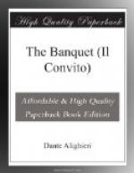 The Banquet (Il Convito) by Dante Alighieri