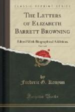 The Letters of Elizabeth Barrett Browning (1 of 2) by Frederic G. Kenyon