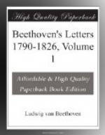 Beethoven's Letters 1790-1826, Volume 1 by Ludwig van Beethoven