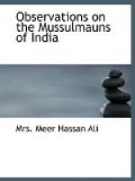 Observations on the Mussulmauns of India by