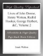 Lives of John Donne, Henry Wotton, Rich'd Hooker, George Herbert, &C, Volume 2 by Izaak Walton
