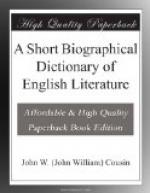 A Short Biographical Dictionary of English Literature by