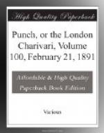 Punch, or the London Charivari, Volume 100, February 21, 1891 by