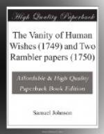 The Vanity of Human Wishes (1749) and Two Rambler papers (1750) by Samuel Johnson