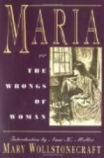 Maria, or the Wrongs of Woman by Mary Wollstonecraft
