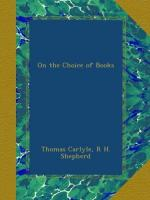 On the Choice of Books by Thomas Carlyle