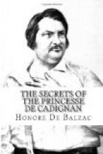 Secrets of the Princesse de Cadignan by Honoré de Balzac