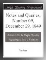 Notes and Queries, Number 09, December 29, 1849 by