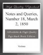 Notes and Queries, Number 18, March 2, 1850 by