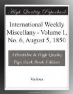 International Weekly Miscellany - Volume 1, No. 6, August 5, 1850 by