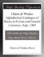 Chatto & Windus Alphabetical Catalogue of Books in Fiction and General Literature, Sept. 1905 by Chatto and Windus