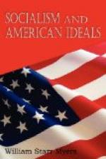 Socialism and American ideals by