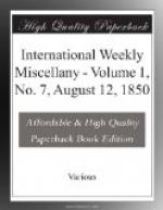International Weekly Miscellany - Volume 1, No. 7, August 12, 1850 by